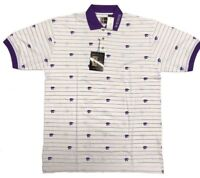 Kansas State Wildcats ChiliWear Men's Short Sleeve Polo White/Purple KSU Shirt