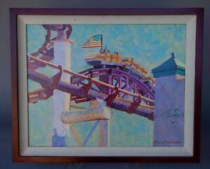 Mark Lee Goldberg Signed Acrylic on Canvas Original Painting Dated 2001