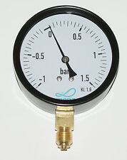 "Vacuum Pressure Gauge 80mm x 1/4"" connection slurry tanker"