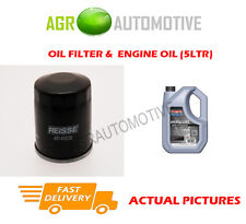 PETROL OIL FILTER + SS 10W40 ENGINE OIL FOR MAZDA 323F 1.3 72 BHP 2001-04