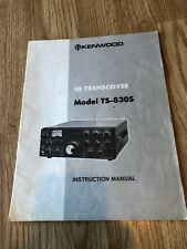 Kenwood TS-830S Original Instructuon Manual Only