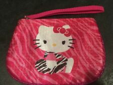 Hello Kitty Pink Zebra Travel Cosmetic Makeup Bag