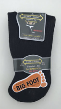 3 PAIRS MENS BIG FOOT DIABETIC EXTRA WIDE NON ELASTIC SOCKS BLACK SIZE 11 TO 14