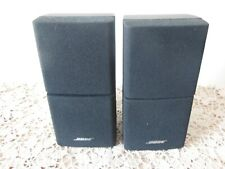2 X Bose Double Cube Speakers Lifestyle Acoustimass Black ( Ref 3 )
