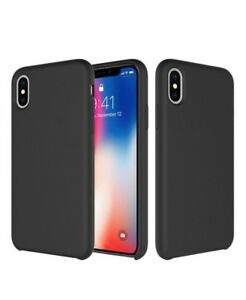 Genuine Silicone Soft Liquid Luxury Case Cover For Apple iPhone X and XS case