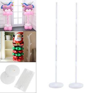 2x Plastic Balloon Arch Column Stand with Base Kits Wedding Birthday Party Decor
