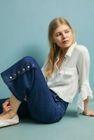 Anthropologie Pilcro And The Letterpress High Rise Wide Leg crop Jeans 27 Petite