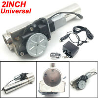 """2.0"""" Car Electric I-Pipe Exhaust Downpipe Cutout E-Cut Out Valve System+Remonte"""
