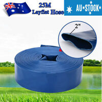 2 Inch 50mm PVC 25m Layflat Hose Water Pump Transfer Lay Flat  Outlet Discharge