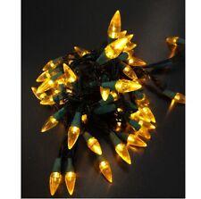 LED Lichterkette Partylichter 50 Lampen gelb Tropfenform Weihnachtsbeleuchtung