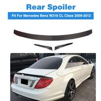 Carbon Spoiler Kohlefaser Kofferraum Lip Heckspoiler für Mercedes W216 CL63 CL65