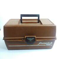 Vintage Fenwick Woodstream 1060 Folding 3-Tray Fishing Tackle Box