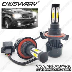 For Dodge Grand Caravan 2008 2009 2010 High and Low Beam H13 9008 LED Headlight