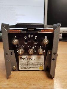 Regavolt Variable Transformer   TYPE 715   230/240V 15A