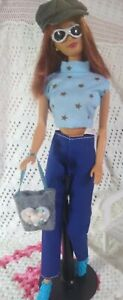 Barbie  Hawaii Midge Auburn Red Hair, Freckles TNT Body 1999 Redressed w Access