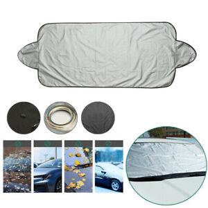 Universal Car Windshield Cover Winter Snow Ice Frost Sun Shade Dust Protector