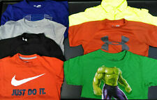 Lot of 7 Boys Under Armour, Nike, Marvel Long & Short Sleeve Shirts Size Small