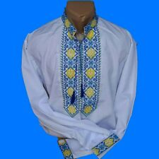 Embroidered Shirt for men National Coat of Arms of Ukraine Cross stitch 2XS-3XL