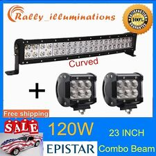 23'' 120W CURVED LED Work Light Bar Car Fog Lamp SUV Truck Offroad 4WD 18W CREE