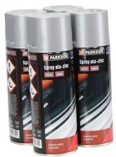 4 Bombes Spray Peinture Argent pour Alu Zinc 4x400ml Résiste à la chaleur 150 °