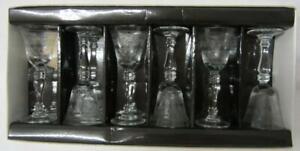 Set of Six (6) Pall Mall/Lady Hamilton Liqueur Glasses (Boxed/Unused)