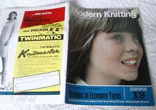 VINTAGE SEPTEMBER 1967 KNITMASTER' MODERN KNITTING' MAGAZINE