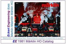 EE 1981 E EXC Marklin HO Catalog Years 1981 3 Scales & Smoke Excellent Condition