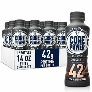 Core Power Elite High Protein Shakes (42g), Chocolate, Ready to Drink ,12 pack
