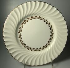 "Minton Cheviot Gold S534 (SET OF 7)  Luncheon Plates  9""  (pink/red backstamp)"