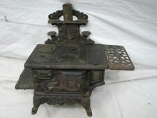 ANTIQUE CAST IRON CRESCENT TOY SALESMAN SAMPLE STOVE DOLL HOUSE KITCHEN DISPLAY