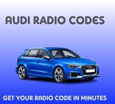 Unlock Radio Pin Code Audi RNS E Stereo SAT NAV Plus Decode LED Safe A3 TT A4
