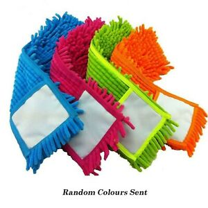 Microfibre Mop Refill Replacement Heads Dust Floor Cloth Cleaning Washable Pads