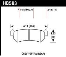 Disc Brake Pad Set-HPS Disc Brake Pad Rear Hawk Perf HB593F.548