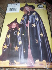 BUTTERICK #5104-MOTHER & DAUGHTER ( NO SEW ) WITCHES COSTUME PATTERN  SM-LG   FF