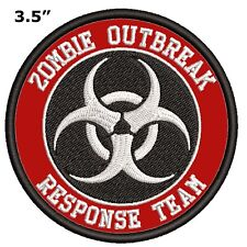 BIOHAZARD SYMBOL EMBROIDERED PATCH IRON / SEW-ON TOXIC WARNING DANGER APPLIQUE