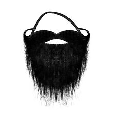 Black Halloween Pirate Elasticated Beard with Curly Moustache