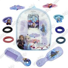Girls Hair Set 11pcs Accessories Backpack Disney Frozen 2 Believe in The Journey
