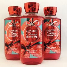 3 Bath & Body Works Sheer Japanese Cherry Blossom Shower Gel 10 fl.oz 295 ml New