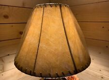 """Rustic Faux Leather Laced Bell Lamp Shade - 17"""""""
