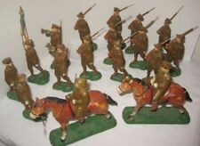 Old Unusual 19 PC Trico Japan Composition Military Army Soldier Set w/ Mounted