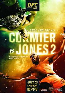 UFC 214 Event Poster - Daniel Cormier vs Jon Jones 2 - 11x17 13x19 17x25