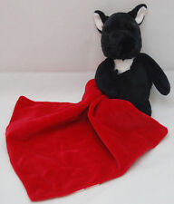 Black Puppy Dog Rattle Red Security Blanket Blankie Baby Carters One Size Plush