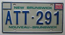 New Brunswick 1992 License Plate HIGH QUALITY # ATT-291