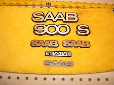 Saab 1984 900 S Coupe hatchback Hood / Grille/ Hatch metal OE 1 set of 7 Emblems