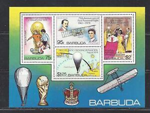 BARBUDA - 377a S/S - MNH - 1978 - VARIOUS EVENTS AND ANNIVERSARIES