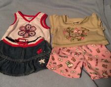 BUILD A BEAR 4 pc lot USA, OLYMPIC, red white and blue  Hello Kitty Outfit