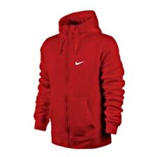 AUTHENTIC NIKE CLUB FULL ZIP FLEECE RED HOODIE 823531-611