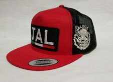 JALISCO    MEXICO  HAT MESH TRUCKER RED  BLACK  FLAT BUILD NEW