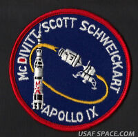 APOLLO 9 LION BROTHERS VINTAGE ORIGINAL NASA CLOTH BACK SPACE PATCH EXCELLENT