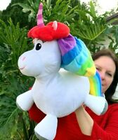 "Disney Parks Inside Out Rainbow Unicorn 15"" Plush Stuffed Animal Toy"